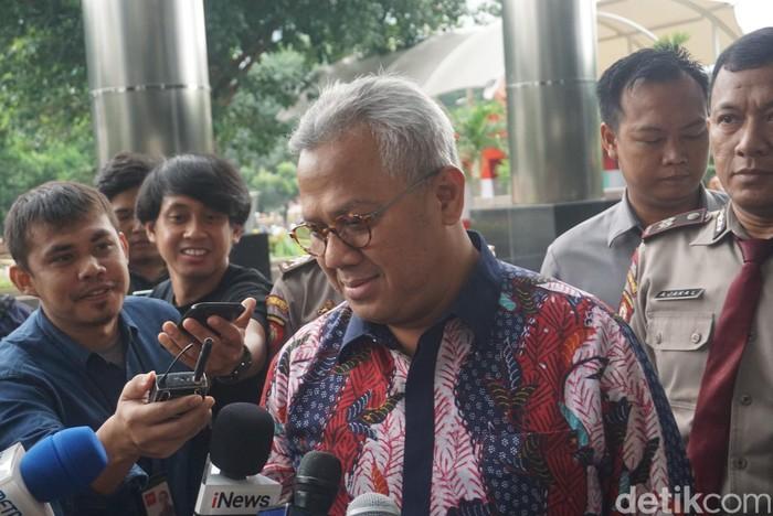 Ketua KPU Arief Budiman penuhi panggilan KPK. (Ibnu Hariyanto/detikcom)
