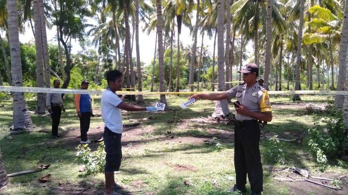 Pria tewas ditusuk pemilik kebun kelapa di Dompu, NTB (Dok. Istimewa)