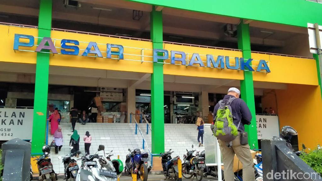 Ada Pedagang Positif Corona, Pasar Pramuka Ditutup 3 Hari