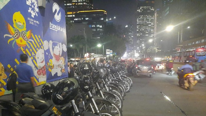 Polisi berjaga di Sarinah antisipasi massa demo