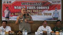 Polisi dan Dinkes Tuban Ajak Warga Antisipasi Virus Corona