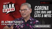 Blak-blakan Kemenkes: Corona Tak Seganas SARS dan MERS