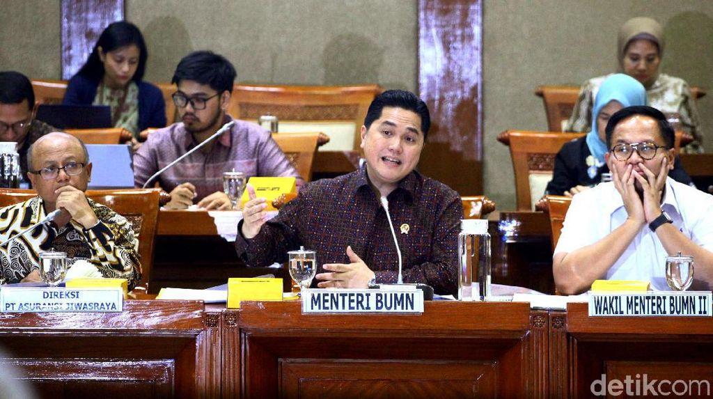 Rapat DPR dan Erick Thohir Bahas Jiwasraya Jadi Tertutup