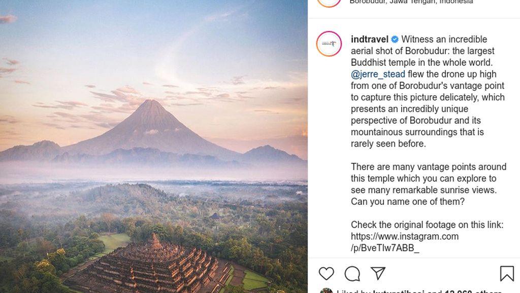 Tetap Pasang Foto Gunung Lancip Borobudur, Kemenparekraf?