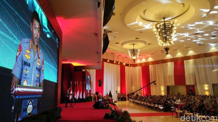 Kapolri Jenderal Idham Azis membuka Rapat Pimpinan (Rapim) Polri (Ahmad Bil Wahid/detikcom)