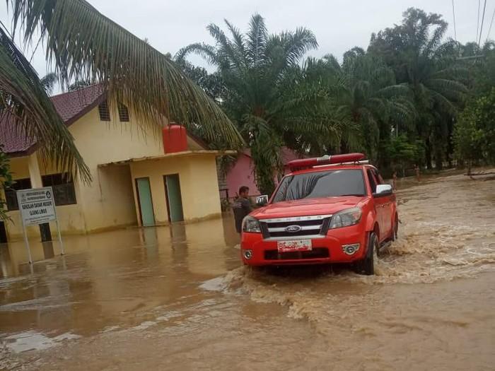 Dua kabupaten di Aceh terendam banjir. Seribu lebih kepala keluiarga terdampak (Dok. BPB Aceh)