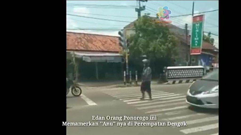 Viral, Pria Pamer Alat Kelamin di Perempatan Jalan Ponorogo