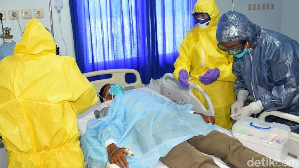 RS Jala Ammari Lantamal VI Simulasi Penanganan Pasien Virus Corona