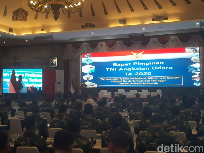 Rapim TNI AU 2020 (Yogi Ernes/detikcom)