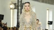 10 Inspirasi Gaun Pengantin Putih dan Emas karya Elie Saab