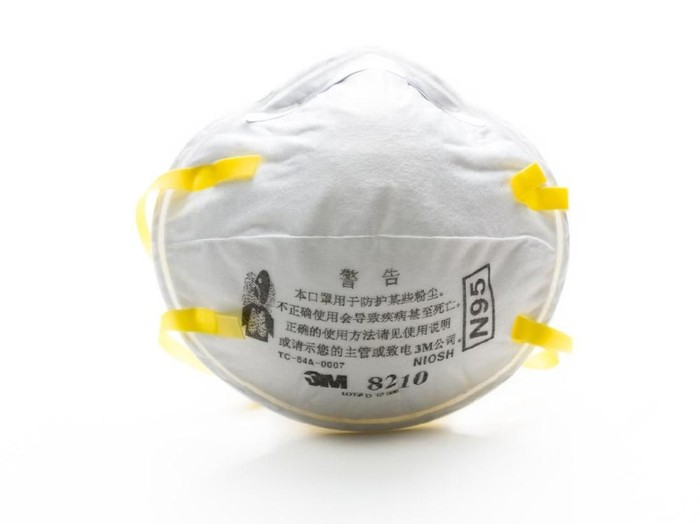 Chongqing, China - February 15, 2013: 3M N95 mask China Edition. In this winter serious air pollution in lots of Chinese city. People have to wear N95 mask when they are in outdoor.