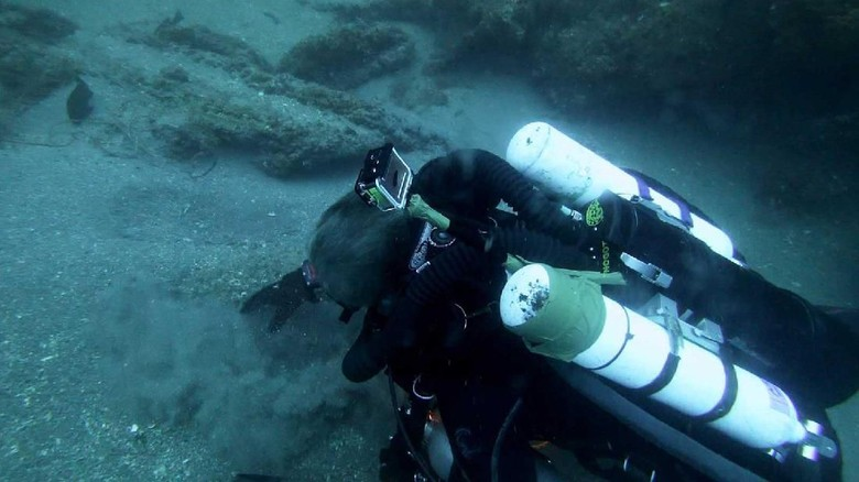 Michael C Barnette on the wreck of the SS Cotopaxi searching for clues.