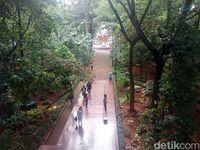 Arboretum terletak di area KLHK. Di sini pengunjung bisa wisata sekaligus belajar mengenai aneka flora.