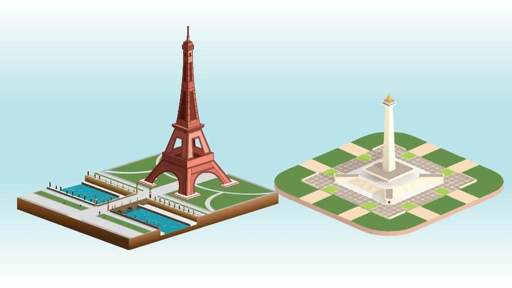 Perbandingan Monas dan Menara Eiffel