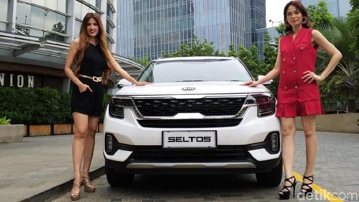 Test Drive Kia Seltos di Pantai Indah Kapuk, Jakarta, Jumat (31/1/2020).