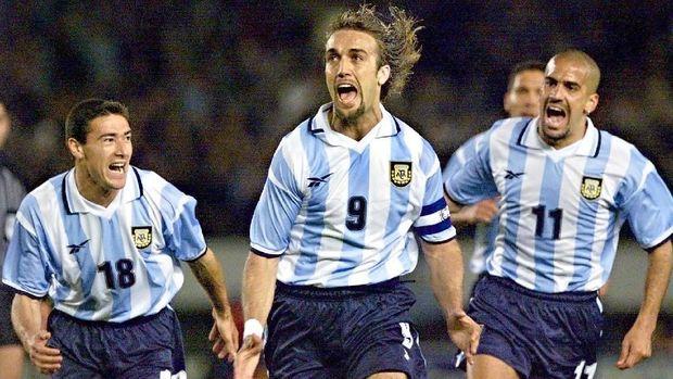Gabriel Batistuta tak berhasil membawa Argentina juara Piala Dunia.