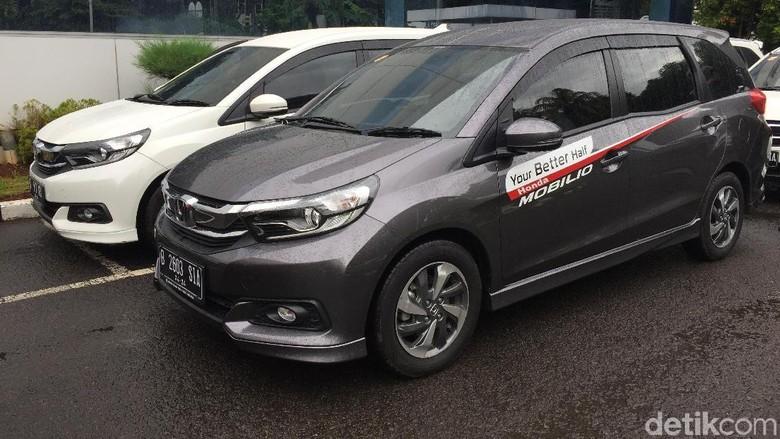 Uji Irit Honda Mobilio di Jakarta, Sabtu (1/2/2020).