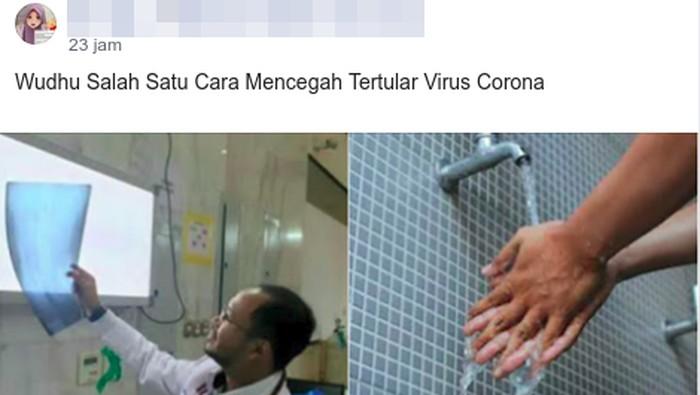 Air disebut bisa mencegah penularan virus corona.
