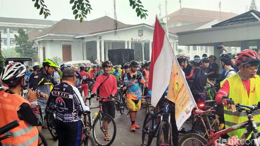 Rayakan Ulang Tahun, Komunitas Sepeda PPBR Gowes Bareng
