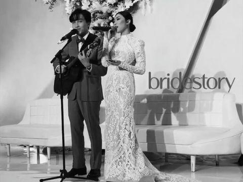 Anggunnya Isyana Sarasvati Pakai Gaun Backless dan Duet Bareng Rayhan