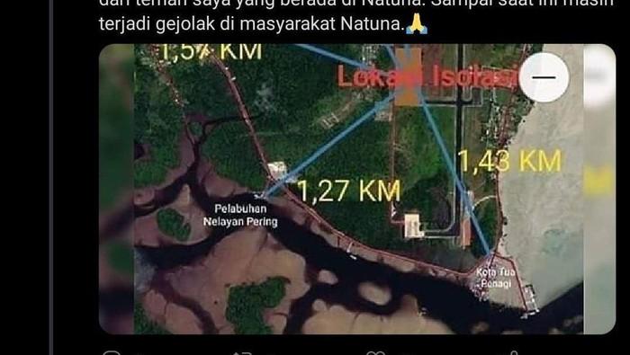 Jarak lokasi observasi WNI yang dievakuasi dari Wuhan dinilai terlalu dekat dengan pemukiman.