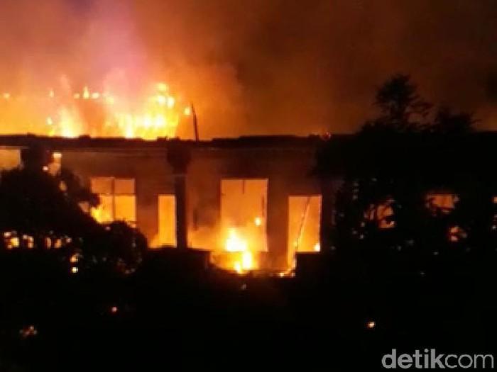Kebakaran 19 kamar kos di Badung Bali (Angga Riza/detikcom)