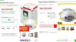 Cuan for Lyfe! Masker N95 Anti Virus Corona Dijual Rp 3 Juta di Lapak Online