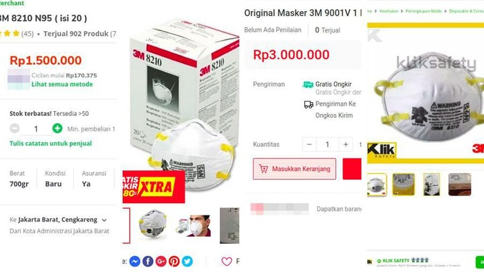 masker n95 dijual mahal demi cuan