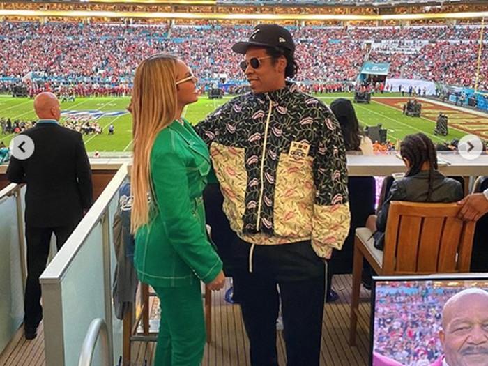 Beyonce dan Jay-Z di Super Bowl 2020.