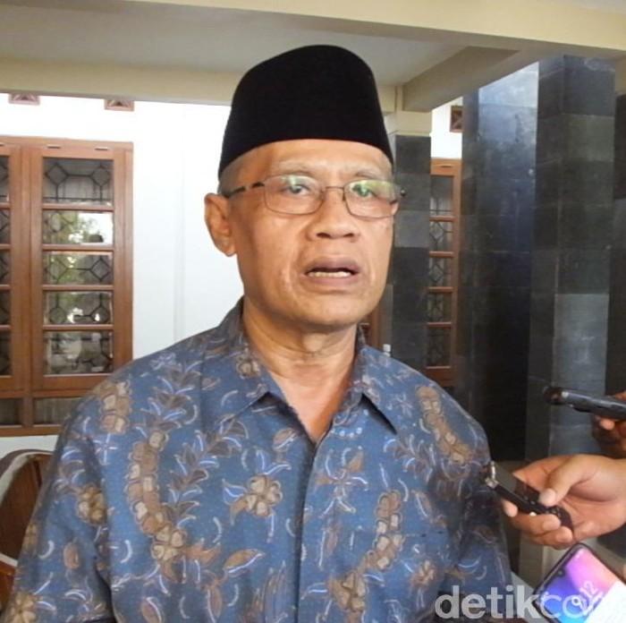 Ketum PP Muhammadiyah, Haedar Nashir di Bantul, Senin (3/2/2020).