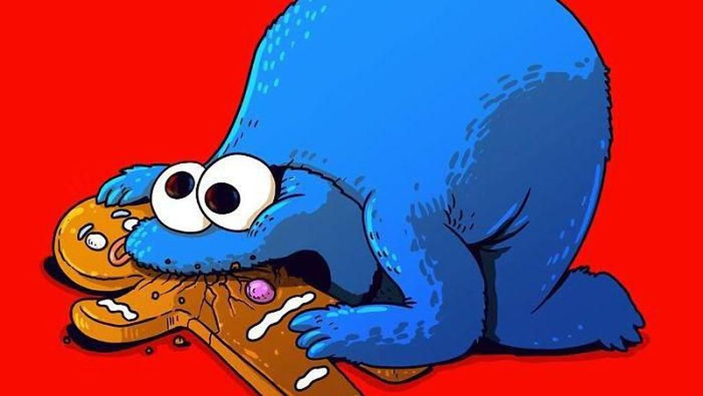 Ilustrasi Kocak dan Seram Sisi Lain Tokoh Kartun