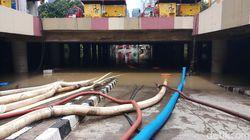 25 Jam Ditangani, Banjir Underpass Kemayoran Belum Surut