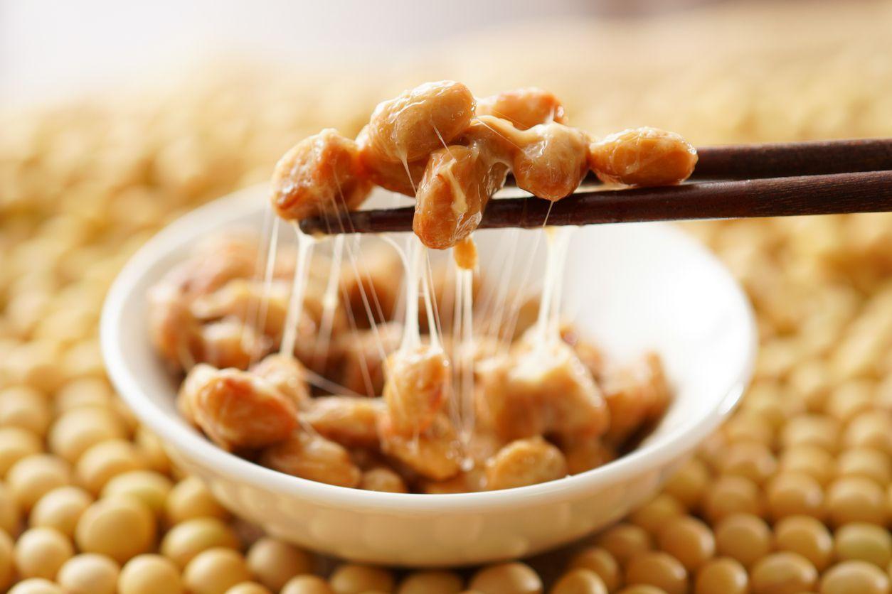 Natto. Japanese food.natto. Japanese food.