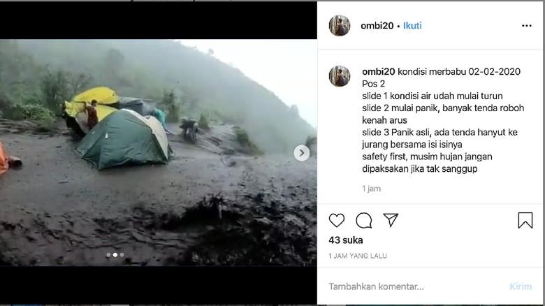 Banjir di Gunung Merbabu
