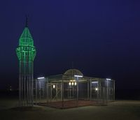 Viral Masjid Transparan di Tengah Gurun, Ini Faktanya