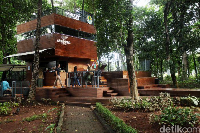 Mau ngafe sekaligus menikmati sejuknya alam? Tak perlu jauh-jauh ke Puncak, karena nuansa serupa dapat ditemui di Hutan Kota Arboretum Jakarta.