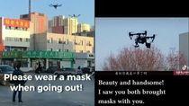 China Pakai Drone Pantau Warga dari Virus Corona