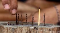Unik! Patung Mini dari Korek Api Ini Tembus Pasar Internasional