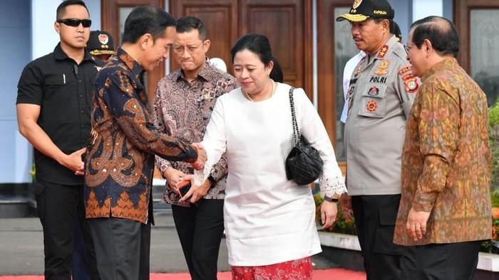 Presiden Jokowi dan Ketua DPR Puan
