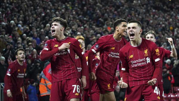 Baby Liverpool lolos ke babak 16 besar Piala FA.