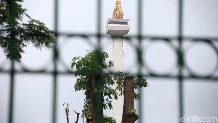 Pohon-pohon di kawasan Monas yang ditebang akibat revitalisasi Plaza Selatan Monas mulai diganti. Rencananya ada 573 pohon yang akan ditanam.