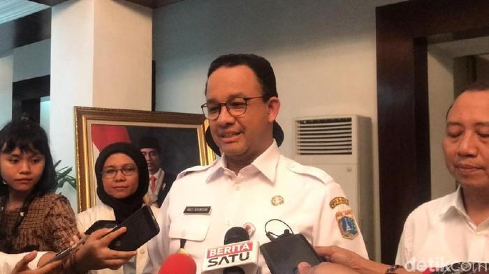 Gubernur DKI Jakarta Anies Baswedan menggelar rapat dengan Kementerian Sekretaris Negara (Kemensesneg) membahas revitalisasi Monumen Nasional (Monas).