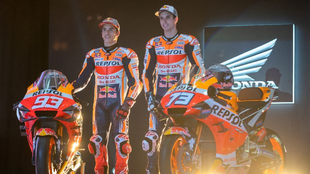 Marc dan Alex Marquez meluncurkan tim Repsol Honda 2020 di Jakarta.