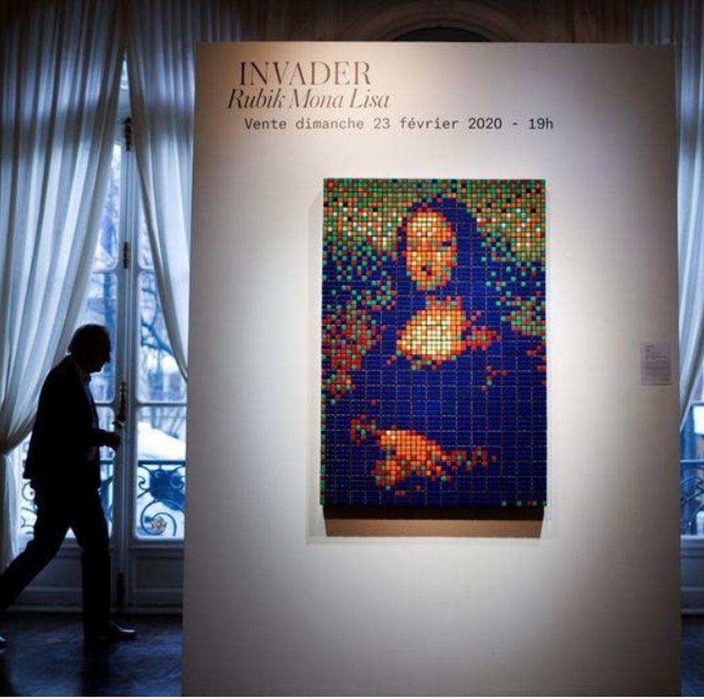 Capai Rekor, Lukisan Rubik Mona Lisa Terjual Rp 7,2 M