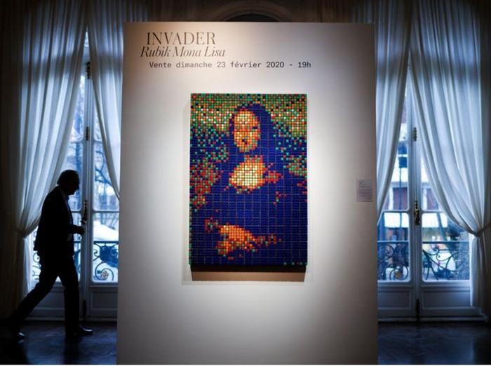 Lukisan Kubus Rubik Mona Lisa
