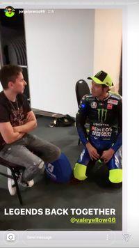 Ciee..Lorenzo dan Rossi Kembali Akur di Yamaha
