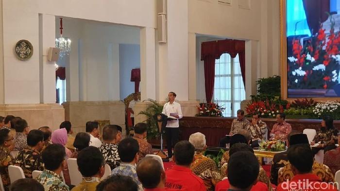 Presiden Jokowi di Rakornas tentang Pengendalian Karhutla