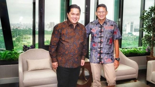 Erick Thohir dan Sandiaga Uno