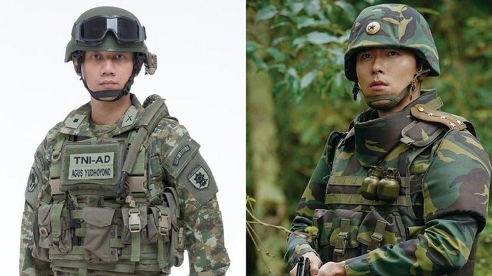 Foto perbandingan AHY dan Hyun Bin (Instagram Annisa Pohan)