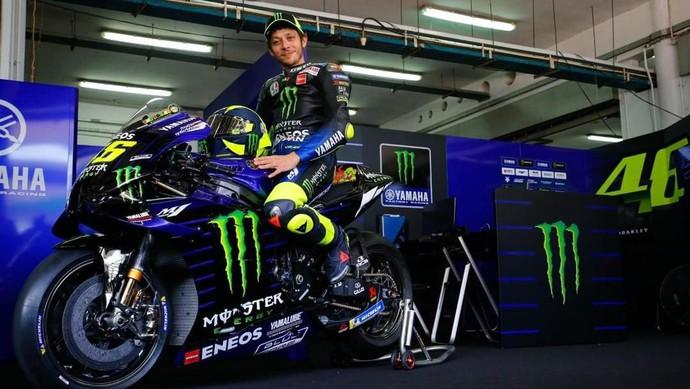 Tim Balap MotoGP Yamaha Monster Energy untuk musim 2020 diluncurkan di Sepang, Malaysia, Kamis (6/2/2020).